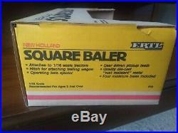 1/16 Ertl New Holland Square Baler Die Cast Metal 1986 NEW IN BOX