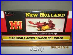 1/16 Super Rare SpecCast Ford New Holland Super 66 Hay Baler Never Out Box Ertl