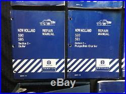 Echt New Holland 590 & 595 Baler Reparaturhandbuch Set (Komplett, 10 Bücher) Gut