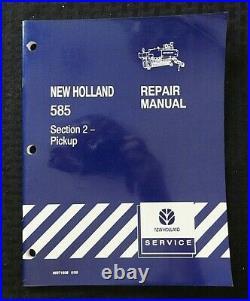 Genuine New Holland 585 Baler Pickup Service Repair Manual Nice