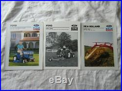 Lot of 27 Ford New Holland brochure tractor combine baler backhoe lawn garden