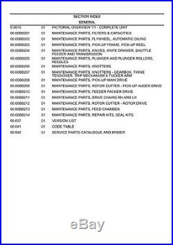 NEW HOLLAND BB9090 Baler PARTS CATALOG MANUAL