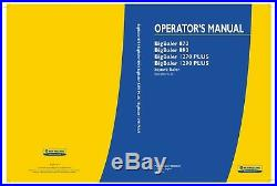 NEW HOLLAND BIGBALER 1270 PLUS 1290 870 890 from PIN 4151 BALER OPERATORS MANUAL
