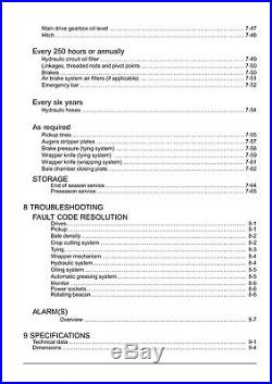 NEW HOLLAND ROLL BALER 125 COMBI BALER from PIN 7312 OPERATORS MANUAL