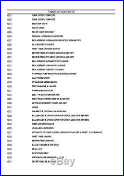 NEW HOLLAND S1049 BALER Wagon PARTS CATALOG