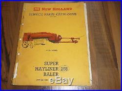 NEW HOLLAND Super Hayliner 268 Baler ERSATZTEIL KATALOG 1965 Spare parts catalog