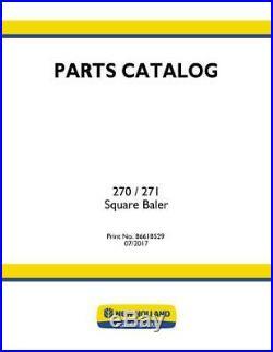 New Holland 270 271 Baler Parts Catalog