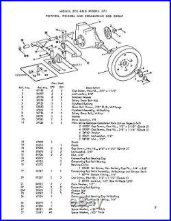 New Holland 270 Hayliner Baler Operator's AND Parts Manual Catalog