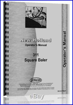 New Holland 311 Baler Operators Manual NH-O-311BLR