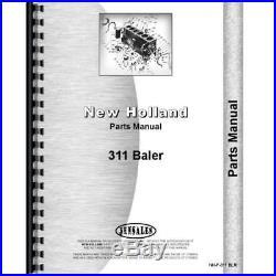 New Holland 311 Square Baler Parts Manual Catalog | New Holland Baler
