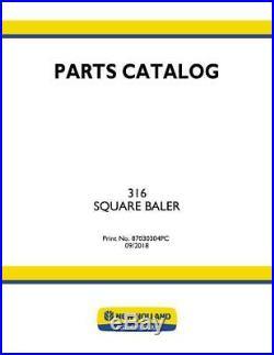 New Holland 316 Baler Parts Catalog