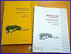 New Holland 316 Hayliner Baler Operator's AND Parts Manual Catalog Book NH
