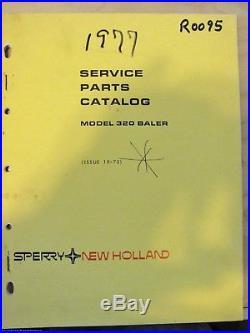 New Holland 320 baler hayliner parts manual book catalog 5032010