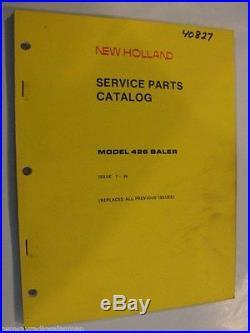 New Holland 426 Hayliner Baler Parts Manual
