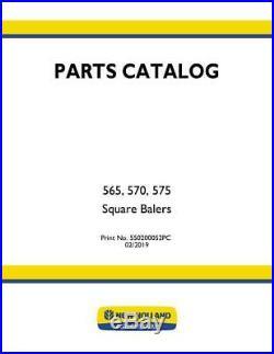 New Holland 565, 570, 575 Nh Square Baler Parts Catalog
