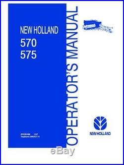 New Holland 570,575 Square Baler Australia Operator`s Manual