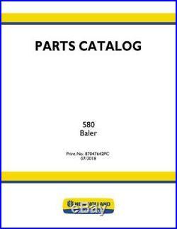 New Holland 580 Baler Parts Catalog