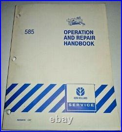 New Holland 585 Baler Operation & Repair Handbook Manual troubleshoot&adjustment