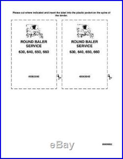 New Holland 630 640 650 660 Round Baler Complete Service Manual