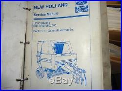 New Holland 630 640 650 660 round baler factory service repair manual set OEM