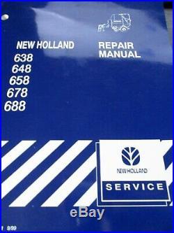 New Holland 638, 648, 658, 678, 688 Roll Belt Round Baler Repair Manual 1999