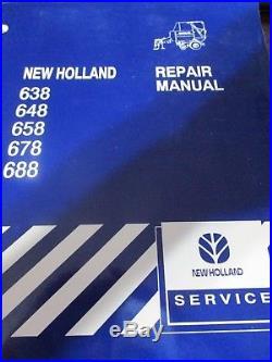 New Holland 638-648-658-678-688 Round Baler Repair Manual 1999