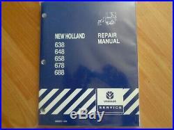 New Holland 638 648 658 678 688 baler factory repair manual VG condition OEM