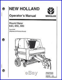 new holland 640 650 660 round baler operator manual 42064033 new rh newdutchbaler com new holland 650 round baler specifications New Holland 660 Round Baler