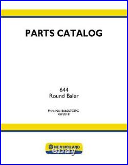 New Holland 644 Round Baler Parts Catalog
