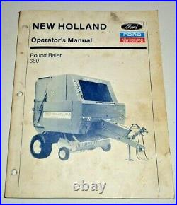 New Holland 660 Round Baler Operators Owners Troubleshooting Manual Original! NH