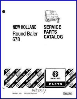 New Holland 678 Round Baler Parts Catalog