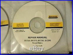 New Holland BR7060 BR7070 BR7080 BR7090 Baler service manual CD OEM