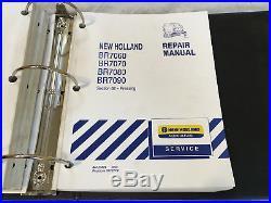 New Holland BR7060 BR7070 BR7080 BR7090 Round Baler Shop Repair Service Manual