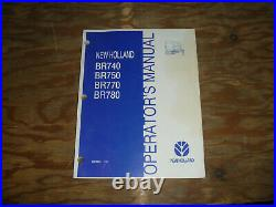 New Holland BR740 BR750 BR770 BR780 Round Baler Operator Maintenance Manual