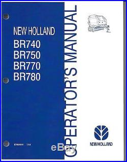 New Holland BR740 BR750 BR770 BR780 Round Baler Operator Manual 87050919