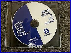 New Holland BR740 BR750 BR770 BR780 Round Baler Shop Service Repair Manual CD