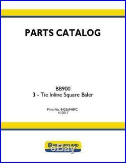 New Holland Bb900 Baler Parts Catalog