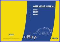 New Holland Bb9050 Bb9060 Bb9070 Bb9080 Big Square Balers 09/2011 Operator`s Man