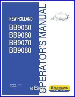 New Holland Bb9050, Bb9060, Bb9070, Bb9080 Square Balers Operator`s Manual