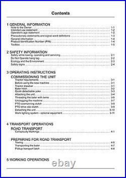 New Holland Bc5050 Baler Operators Manual