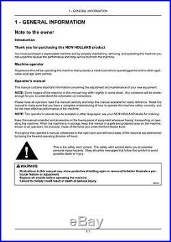 New Holland Bc5060 Bc5070 Baler Operators Manual