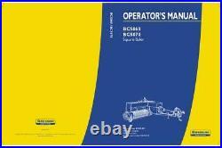 New Holland Bc5060 Bc5070 Square Baler Operator`s Manual
