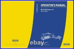 New Holland Bc5070 Hayliner Square Baler Operator`s Manual