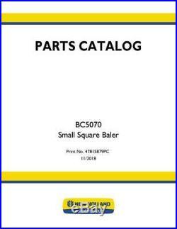 New Holland Bc5070 Small Square Baler Parts Catalog