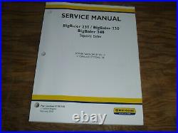 New Holland BigBaler 340 Square Baler Hydraulic PTO Shop Service Repair Manual
