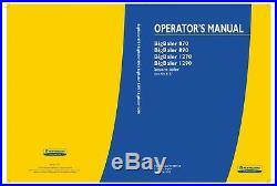 New Holland Bigbaler 1270 1290 870 890 Baler Operators Manual