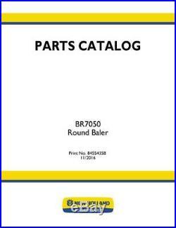 New Holland Br7050 Round Baler Parts Catalog