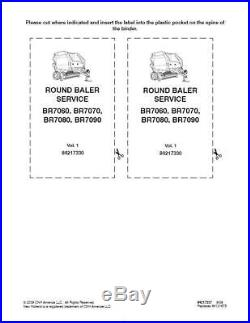New Holland Br7060 Br7070 Br7080 Br7090 Rd Balers Service Manual