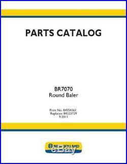 New Holland Br7070 Round Baler Parts Catalog