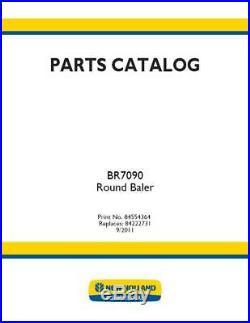 New Holland Br7090 Round Baler Parts Catalog